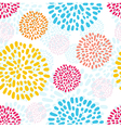 seamless pattern with doodled peony flowers vector image vector image
