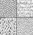 set abstract doodles with doodles circkes drops vector image vector image