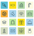 set of 16 celebration icons includes present vector image vector image