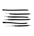 set of black watercolor paint ink brush strokes vector image