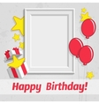 Single birthday frame vector image vector image