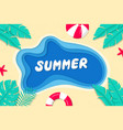 summer background on sea with beach balls vector image
