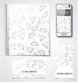 Template branded products with monochrome vector image vector image