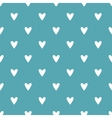 Tile pattern white hearts on mint green background vector image vector image