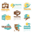 travel agency icon templates tourism bag vector image