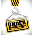 Under construction barrier design vector image vector image