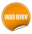 under review vector image vector image