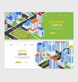 urban landscapes - set colorful isometric web vector image
