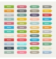 web color buttons in flat stile isolated on a vector image vector image