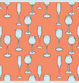 wineglasses seamless pattern vector image vector image