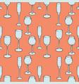 wineglasses seamless pattern vector image