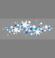 winter snowflakes wave vector image vector image