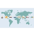 world map concept cargo logistics delivery vector image vector image