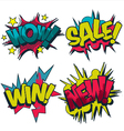 Wow sale win and new comic book style graphics vector | Price: 1 Credit (USD $1)