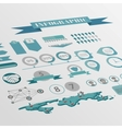 flat isometric infographics background vector image