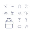 13 decoration icons vector image vector image