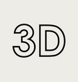 3d word icon vector image vector image