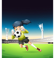 A female football player vector image vector image