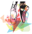 Abstract ballet pointe shoes vector image