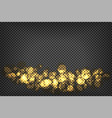 abstract golden bokeh background transparency vector image