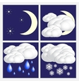 abstract night weather image set vector image vector image