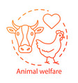 animal welfare shelter concept icon voluntary vector image vector image