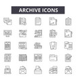 archive line icons for web and mobile design vector image vector image