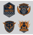 auto and moto racing emblem set and design vector image vector image