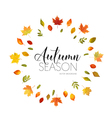 Autumn Leaves Background Floral Banner Design vector image vector image