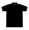 back side polo shirt silhouetted vector image vector image