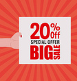 big sale label vector image vector image