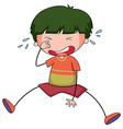 Boy crying vector image vector image