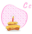 c for cake vector image vector image