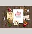 christmas festive invitation vector image vector image
