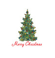 christmas tree background winter holiday greeting vector image vector image