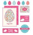 colorful branches set of Easter cards vector image
