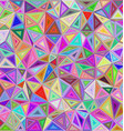 Colorful triangle mosaic background design vector image vector image