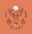 cool elk for t-shirt vector image