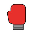 cute boxin glove cartoon vector image