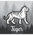 Double exposure White Tiger in forest poster vector image vector image