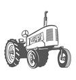 Farm Tractor Monochrome Design vector image