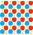 Flat Seamless Sport Tennis Ping Pong Pattern vector image