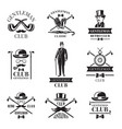 gentleman club badges set vector image vector image
