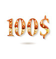 gold 100 dollar coin vector image vector image
