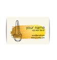 Gold texture nail art buisness card vector image vector image