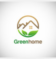 green home environment logo vector image vector image