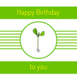 hand drawn sprout plant vector image vector image