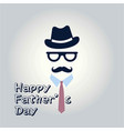 happy fathers day inscription fathers day vector image vector image
