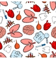 Healthcare seamless pattern with objects vector image vector image