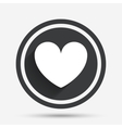 heart sign icon love symbol vector image vector image